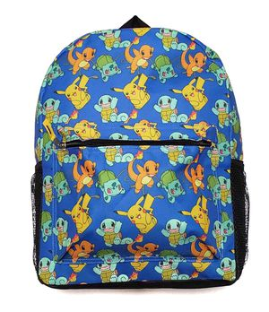 NEW! POKEMON Backpack pokemon detective Pikachu video game cards School Bag squirtle charazzard Travel Bag Shoulder bag book bag kids bag for Sale in Long Beach, CA