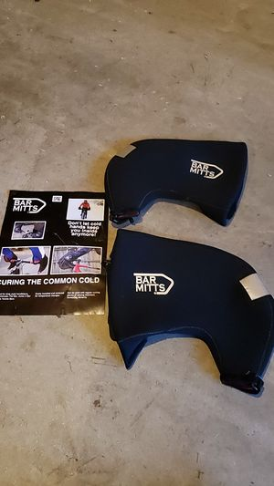 Bar Mitts Cold Weather Road Bicycle Handlebar Mittens, fits Shimano Shifters with Externally Routed Shift Cables for Sale in Newtown, CT