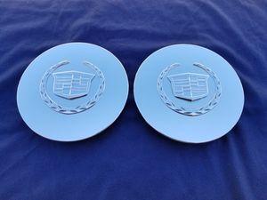 "2 OEM 6.5"" CHROME EMBLEM CADILLAC CENTER CAP, PART# 9593259 MOLD NO. 259 6.5"" for Sale in Pomona, CA"