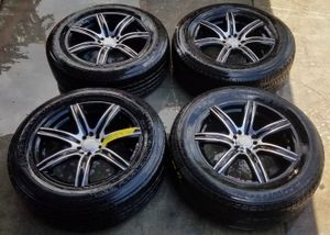 """MB MOTORING 18""""INCH BLACK CHROME WHEELS RIM WITH TIRES SET for Sale in Fort Lauderdale, FL"""