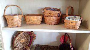 Assorted longaberger baskets. $60 for all 6 for Sale in Lakeland, FL