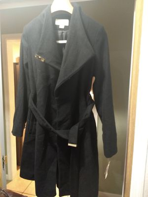 $400 NWT Michael Michael Kors High Neck belted wool blend coat. Size S for Sale in Sayreville, NJ