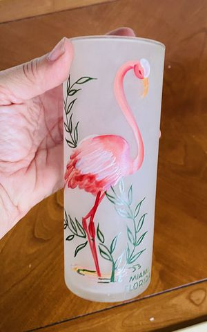 Vintage 1950's Miami Beach Frosted Glass Flamingo for Sale in Hialeah, FL
