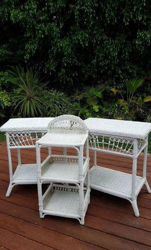 Beaded Wicker Tables Shelf for Sale in San Diego, CA