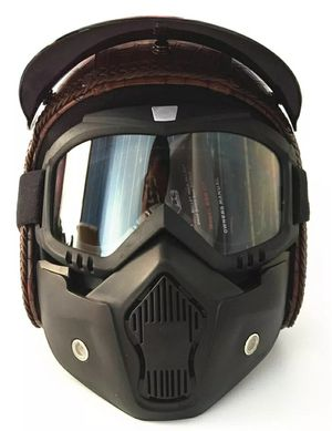 Open Face Half PU Leather Helmet for Sale in Queens, NY
