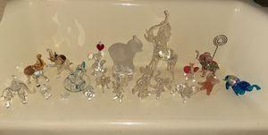 18 Hand Blown Glass & Crystal Elephants for Sale in Walnut, CA