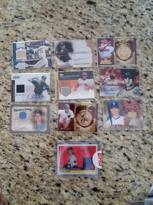 Baseball cards 23 AUTOGRAPHED, 26 memorabilia cards & 1 w/both for a total of 50 for Sale in Temecula, CA