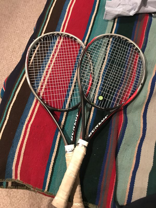 Two Dunlop Tennis Racquets