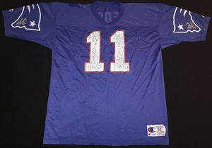 Vintage Champion New England Patriots Drew Bledsoe Mens Jersey Size 52 for Sale in Rialto, CA