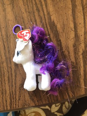 TY Beanie Babies My Little Pony Rarity Key Clip for Sale in Pittsburgh, PA