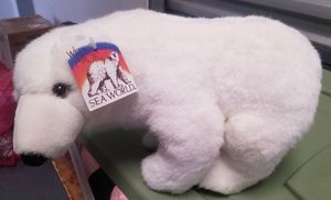 SEA WORLD - WHITE POLAR BEAR PLUSH - STUFFED ANIMAL - SMALL 9in. LONG Brand New for Sale in San Diego, CA