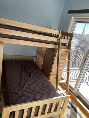 Tradewins Twin bunk bed with desk for Sale in Englishtown, NJ