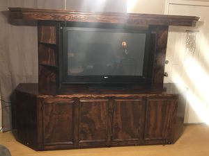 Entertainment Center with Wheels for Sale in Bryan, TX