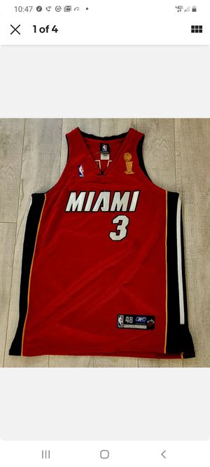 100% AUTHENTIC DWYANE WADE REEBOK MIAMI HEAT FINALS JERSEY SIZE 48 MENS for Sale in Fort Lauderdale, FL