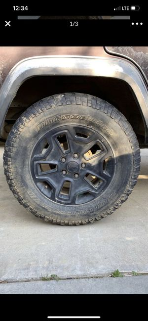 Jeep Rubicon Wheels & Tires. for Sale in Modesto, CA