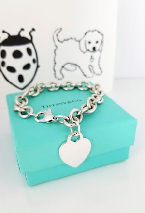 Tiffany & Co heart bracelet 7.5 inches Sterling silver 925 for Sale in Palm Coast, FL