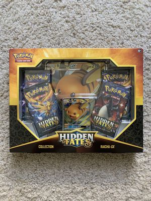 Pokemon Raichu-GX Hidden Fates Collectio for Sale in Los Angeles, CA