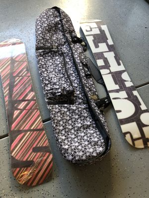 Snowboards, bindings, and bag for Sale in Montclair, CA