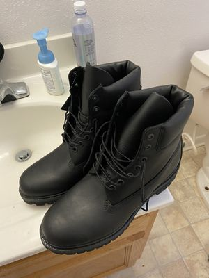 Size 10 black timberland boots for Sale in Newport News, VA