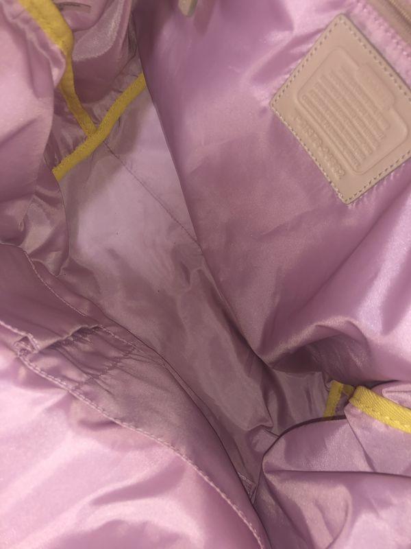 Coach nylon tote purse