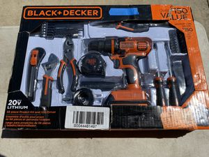 Black & Decker 20v 68 PC Project Kit & Drill/Driver for Sale in Ontario, CA