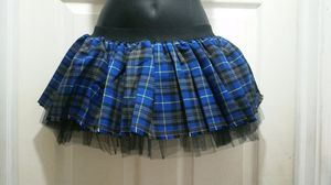 Tulle skirt check satin with black net 3 layer for Sale in Meriden, CT
