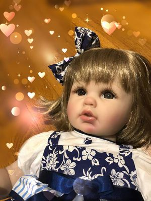 "Reborn silicone baby doll 23"" tall for Sale in Frederick, MD"