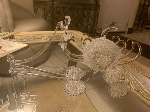 Blown crystal princess carriage