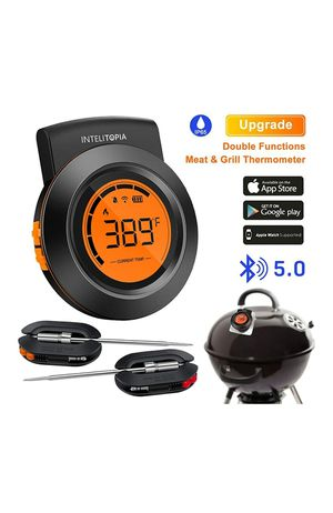 (JJ10) Bluetooth Meat Thermometer for Grilling, Wireless Charcoal Grill Thermometer Digital BBQ Wood Pellet Smoker Thermometer for Sale in Hacienda Heights, CA