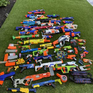 Huge Lot Of Nerf Guns And Accessories for Sale in Trabuco Canyon, CA