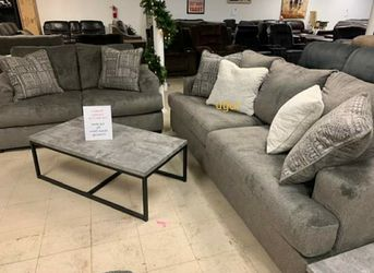 $39 Down payment 💥By Ashley Sofa and Loveseat 💥Soletren Ash Living Room Set 💯In Stock for Sale in New Castle,  DE