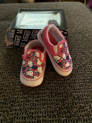 VANS size 3 Hello Kitty crib shoes for Sale in Las Vegas, NV