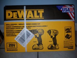BRAND NEW DEWALT 2-Tool 20-Volt Max Power Tool Combo Kit with Soft Case (Charger Included and 2-Batteries Included) for Sale in Winter Haven, FL