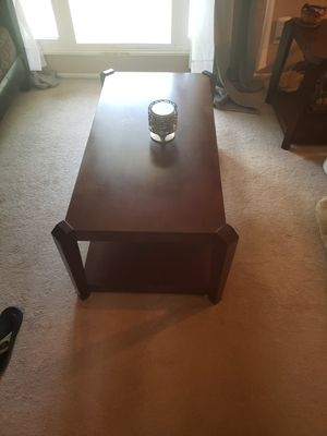 Dark Wood Coffee Table for Sale in Bloomington, IL
