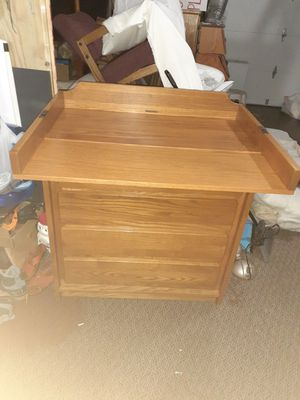 "Solid wood dresser. Very good condition 43""h 35""w 17""d for Sale in Kent, WA"