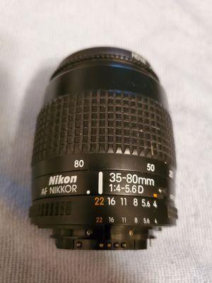 Nikon AF Nikkor 35-80mm 1:4-5.6 D Auto Focus Lens for Sale in Denver, CO