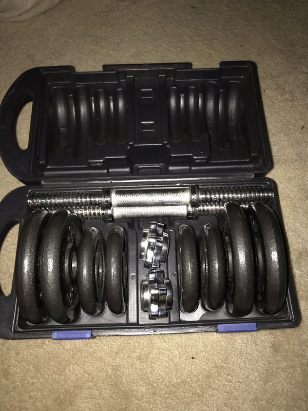 CAP dumbbell weight set (40lbs)