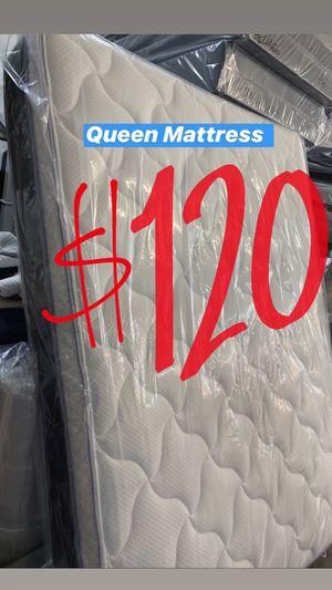 BRAND NEW PILLOW TOP MATTRESSES💯 COLCHONES NUEVOS PILLOW TOP 💯 Queen $120 ❌ $180 With Box Spring 💥💥 FULL SIZE $100 ❌ $150 With Box Spring💥 Twin for Sale in Monterey Park, CA