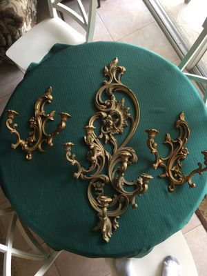 Vintage wall candelabras! $29 for all ! for Sale in Tampa, FL