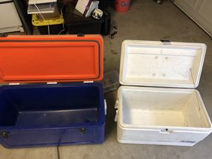 White igloo cooler for Sale in Oceanside, CA