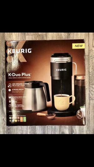 Keurig K-Duo Plus Coffee Maker With Single Serve K-Cup Pod & Carafe Brewer Black for Sale in San Fernando, CA