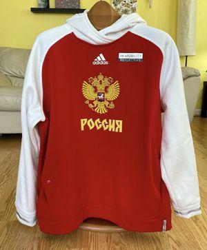 Team Russia World Cup Hockey 2016 Adidas Premier Red Hoodie Sweatshirt Size 2XL for Sale in Hollywood, FL