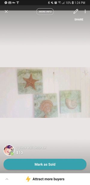 3 piece wall decor set for Sale in San Angelo, TX