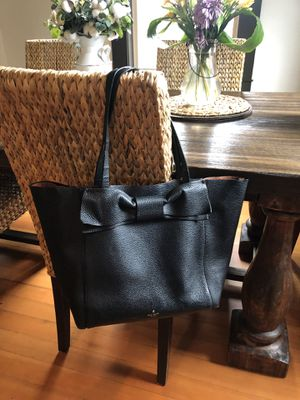Kate Spade black leather large tote bag for Sale in Vancouver, WA