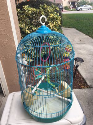 "2 Bird cages. 24"" X 12"". With all accessories.. the other is 15"" x 13"". in Coral Springs. Price is for both. for Sale in Coral Springs, FL"