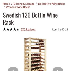 Swedish Wooden Wine Racks 336 Bottle Capacity for Sale in Portland, OR