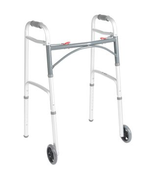"""Deluxe Folding Walker, Two Button with 5"""" Wheels for Sale in Grove City, OH"""