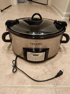 Crock-Pot SCCPVL610-S-A 6-Quart Cook & Carry Programmable Slow Cooker with Digital Timer Stainless Steel for Sale in Fairfax, VA
