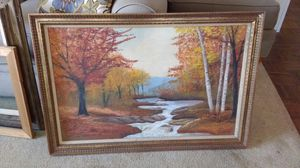 NICE OLDER 3' X 2' OIL PAINTING + 2 WOOD FRAMES for Sale in Torrance, CA