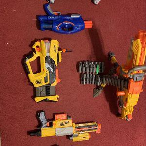 Nerf Gun Set (6 Guns) for Sale in Dallas, GA